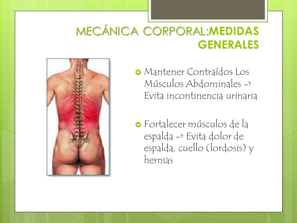 MECÁNICA CORPORAL:MEDIDAS GENERALES