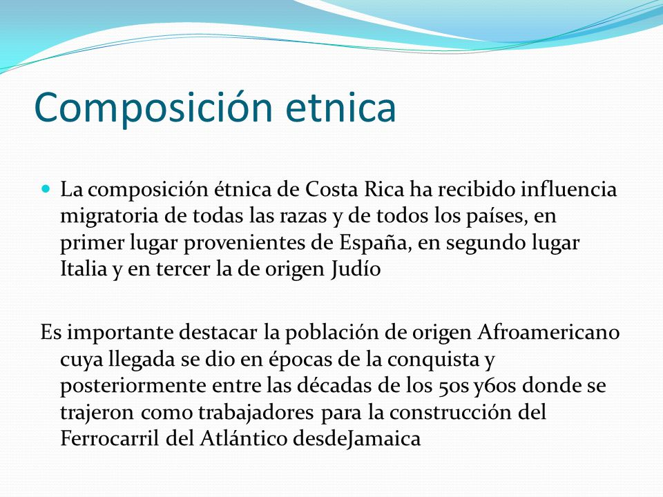 Composición etnica