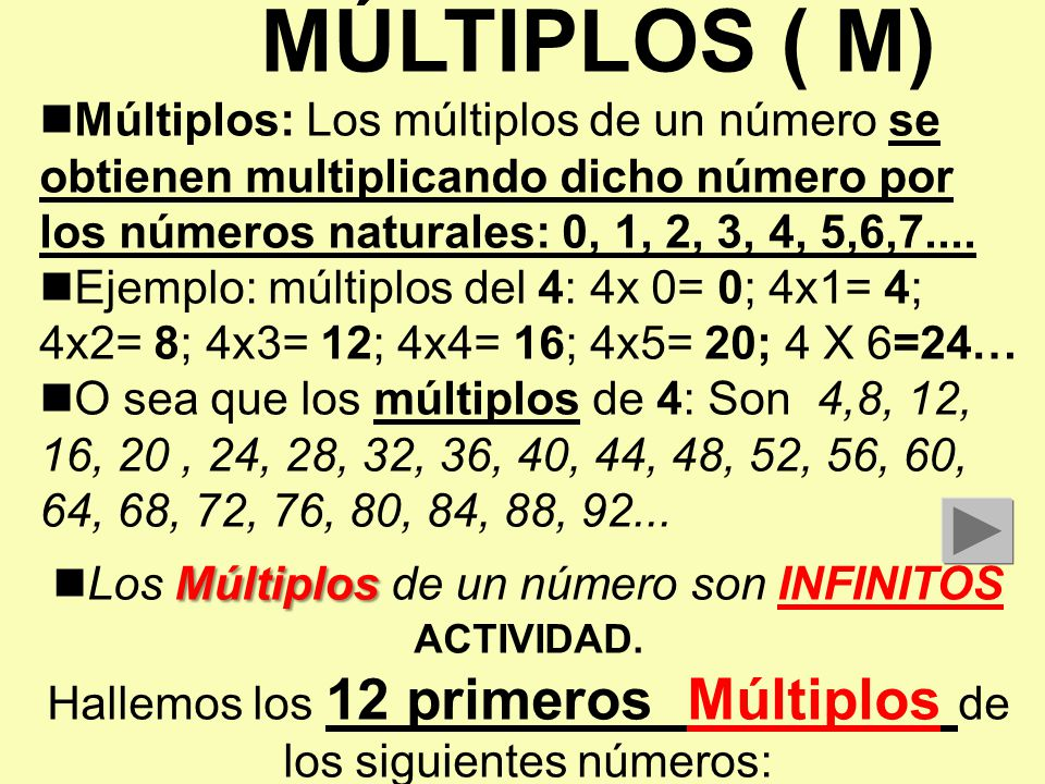Multiplos y divisores luis gonzalo pulgarin r ppt video for Multiples de 6