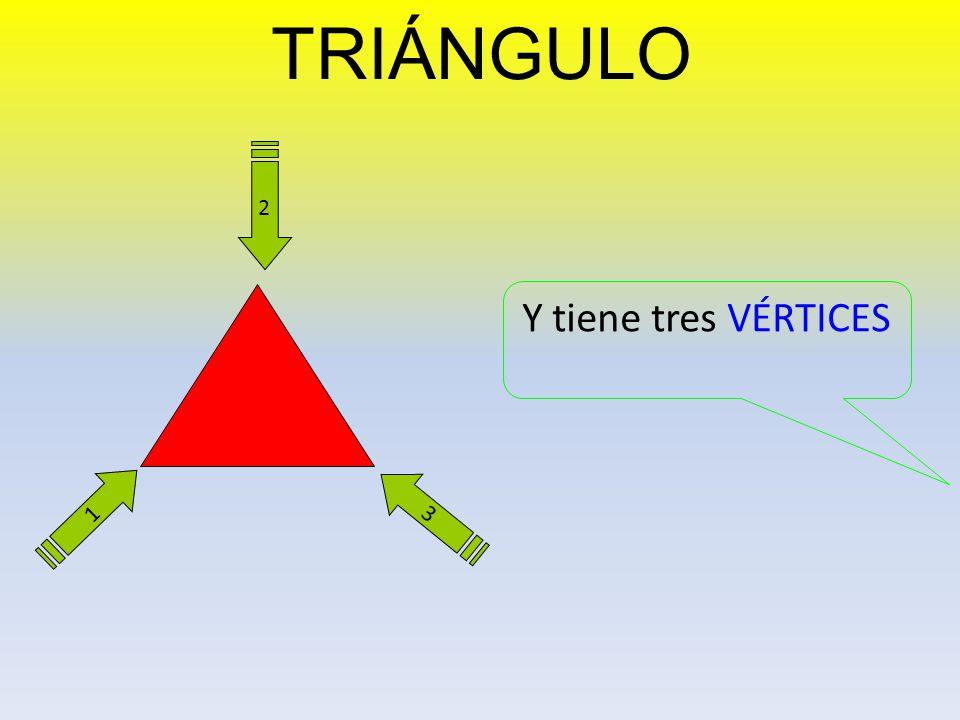TRIÁNGULO 2 Y tiene tres VÉRTICES 1 3