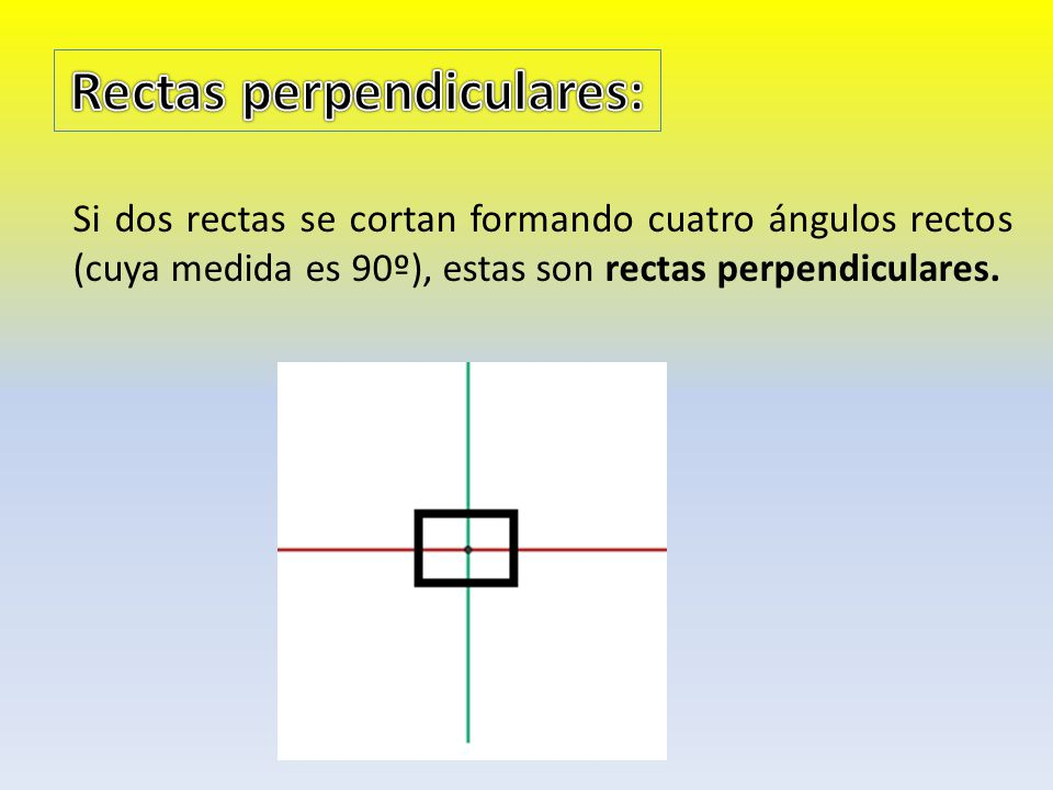 Rectas perpendiculares: