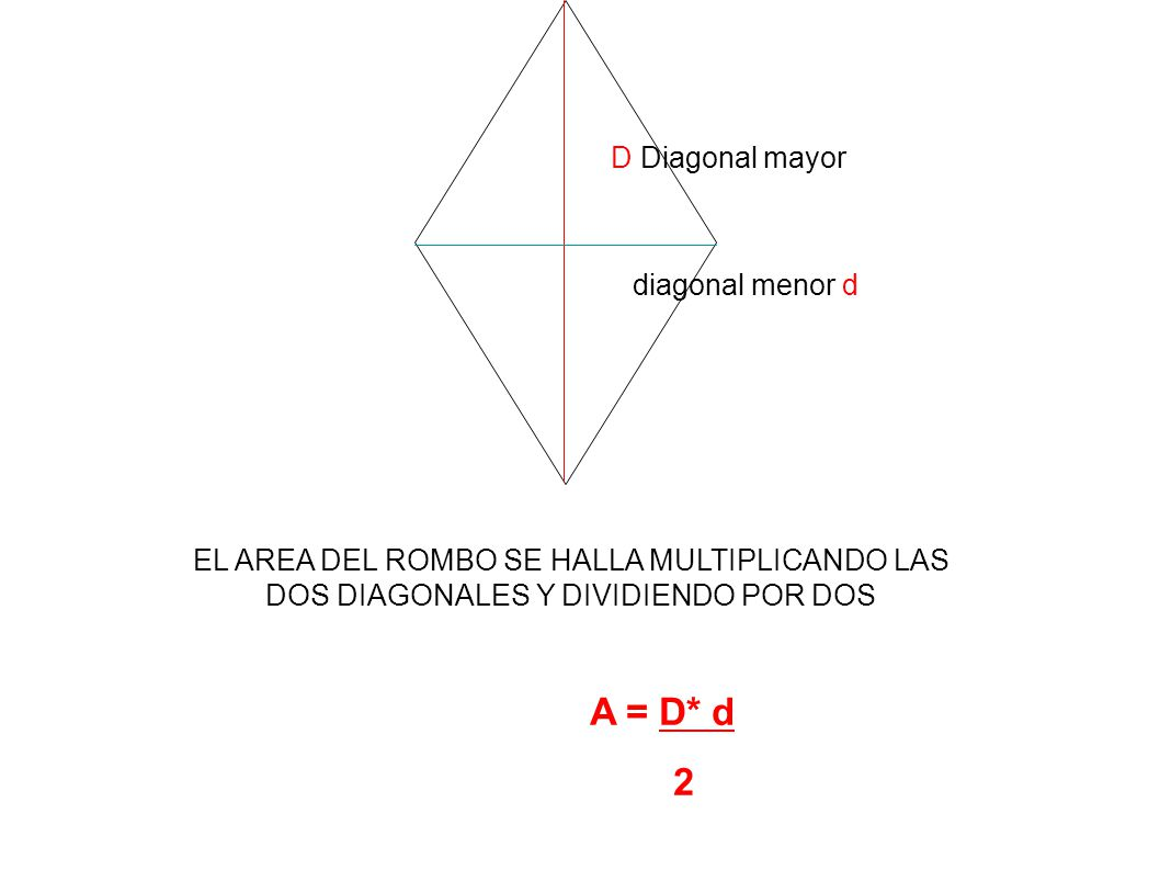 A = D* d 2 D Diagonal mayor diagonal menor d
