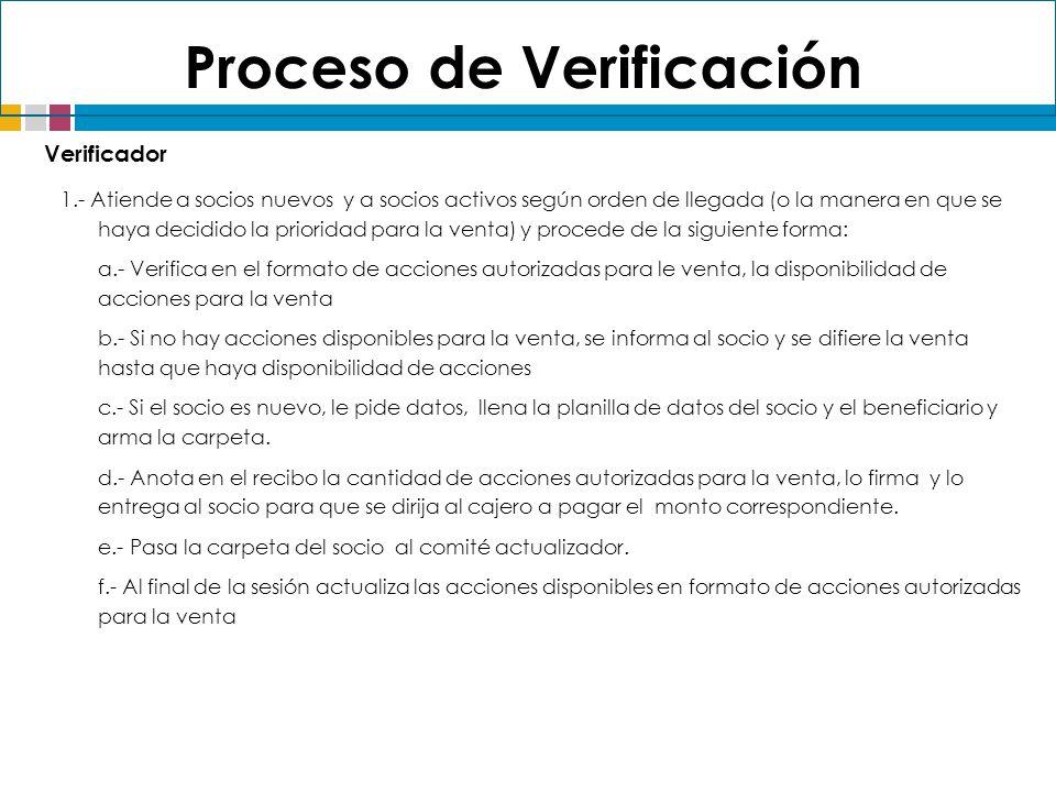 Proceso de Verificación