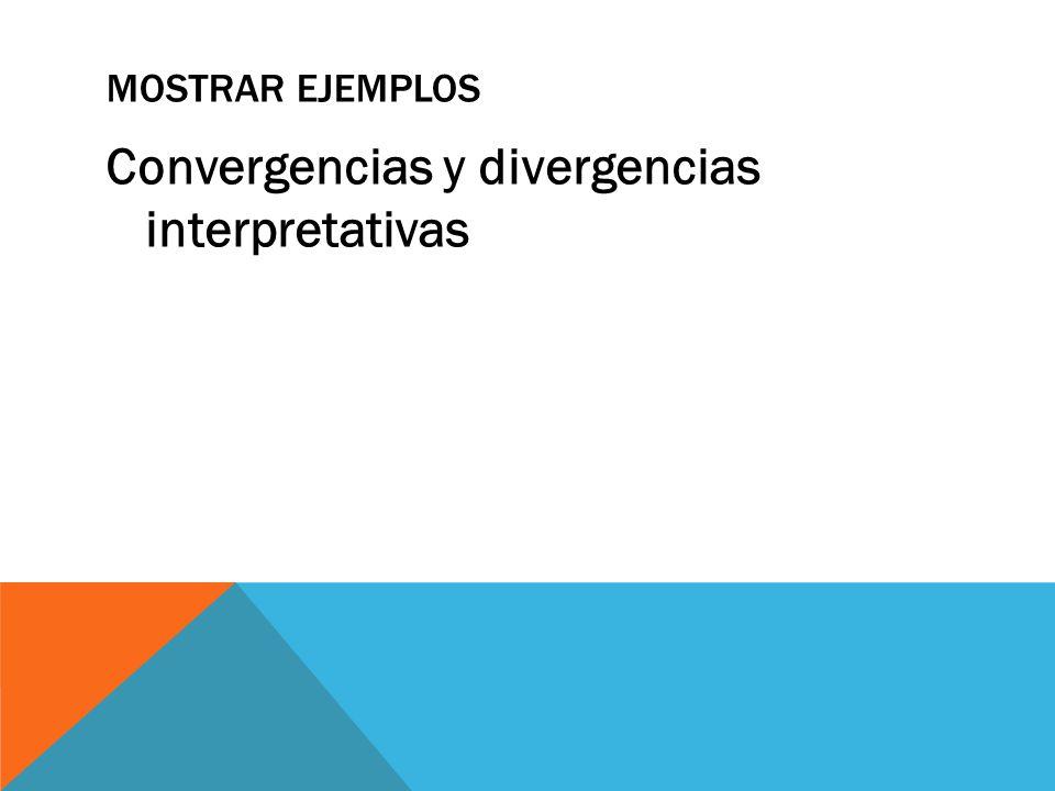 Convergencias y divergencias interpretativas