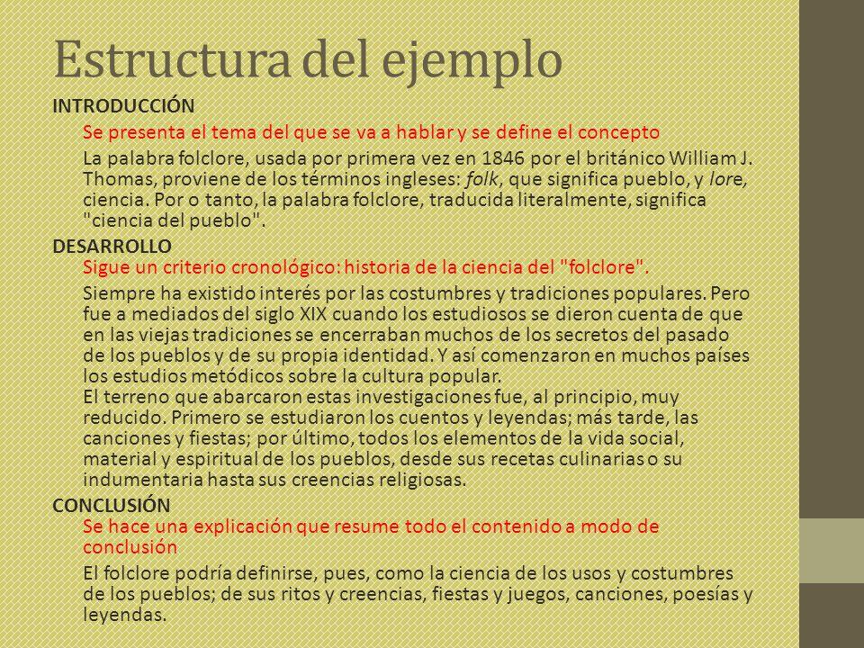 Estructura del ejemplo