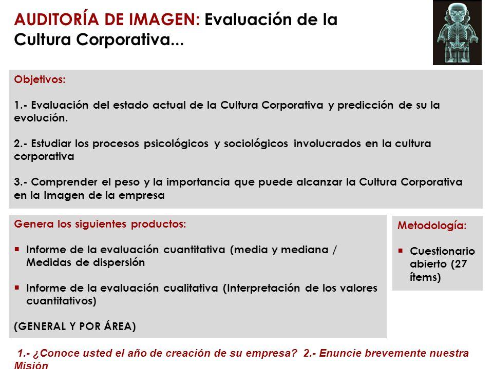 AUDITORÍA DE IMAGEN: Evaluación de la Cultura Corporativa...