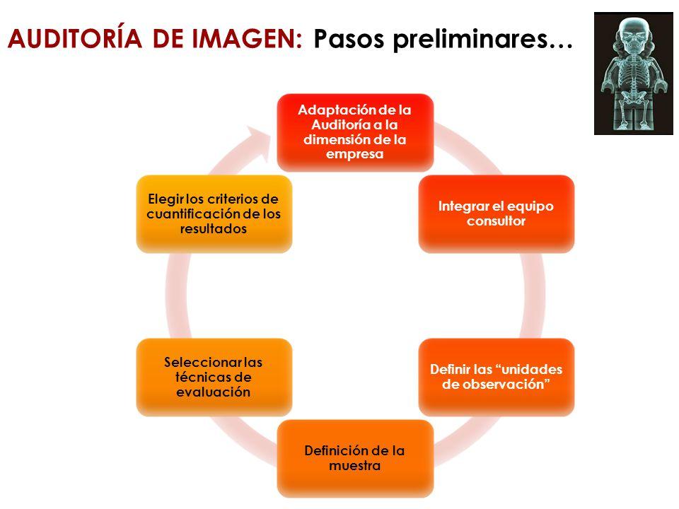 AUDITORÍA DE IMAGEN: Pasos preliminares…