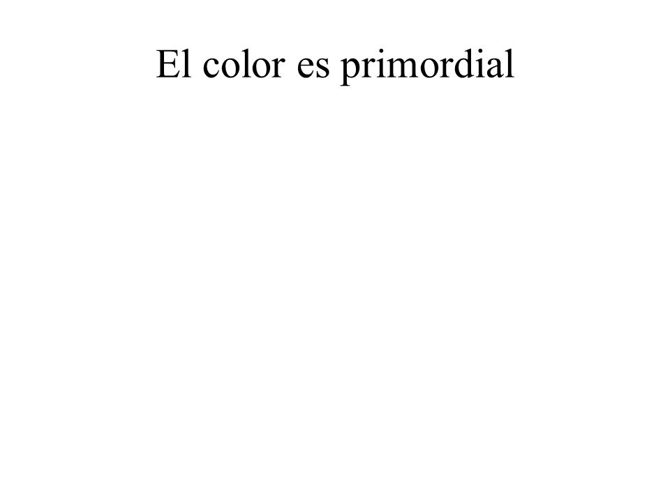El color es primordial