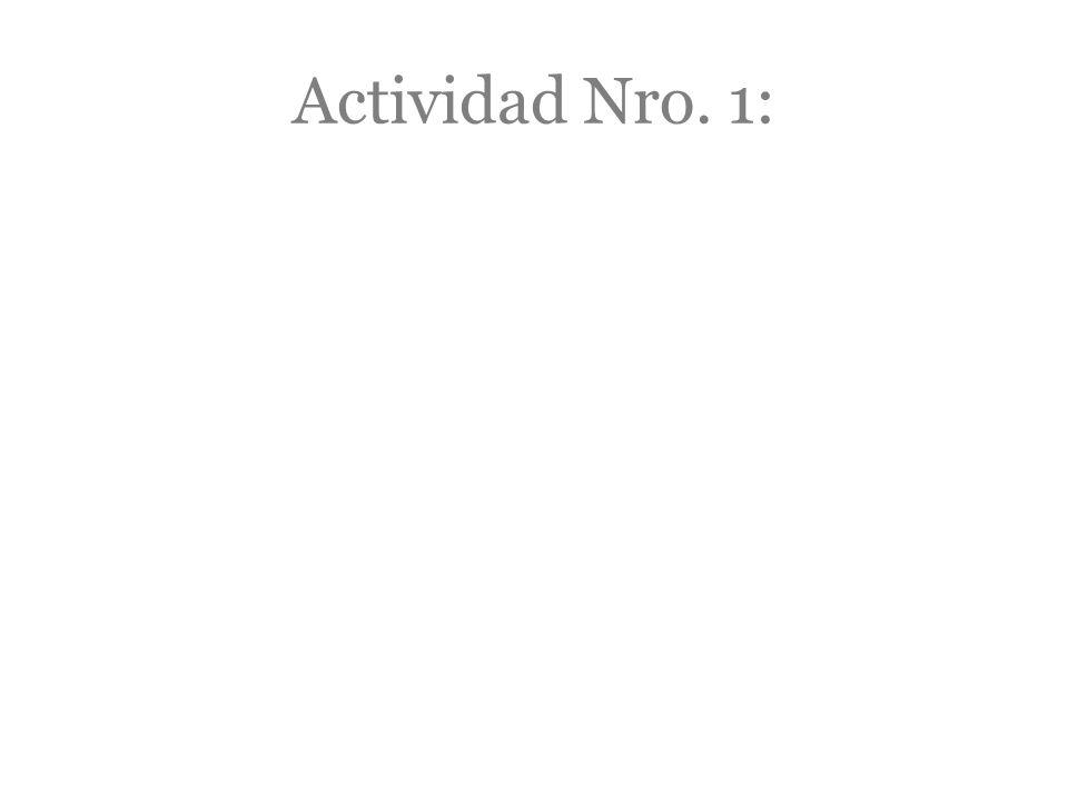 Actividad Nro. 1: