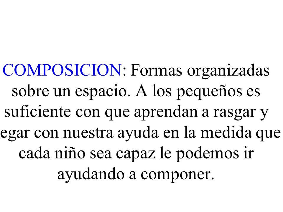 COMPOSICION: Formas organizadas sobre un espacio