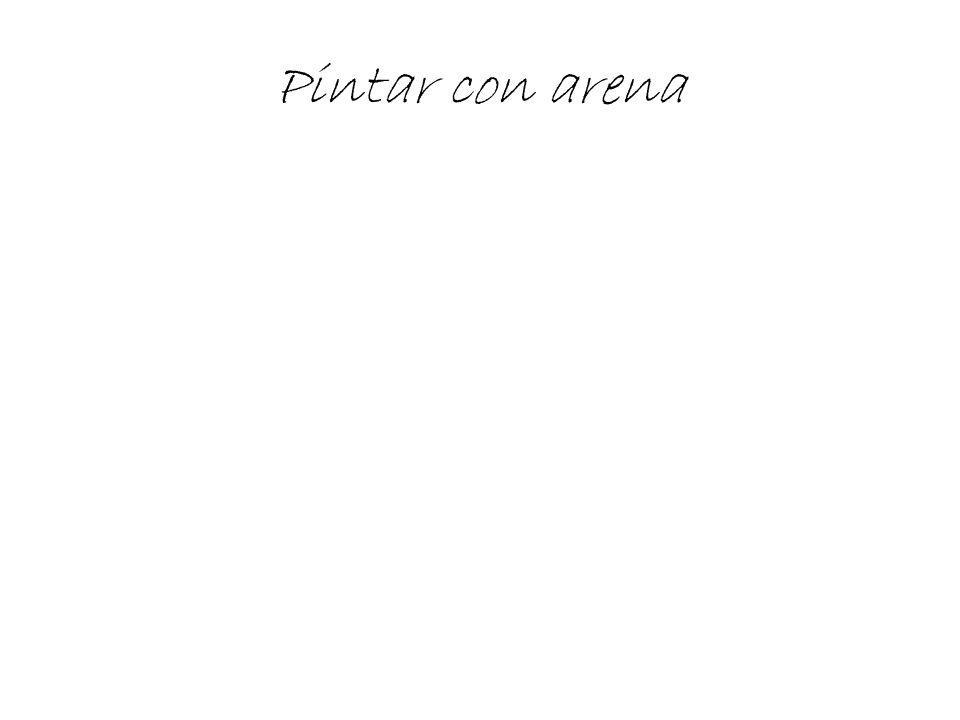 Pintar con arena