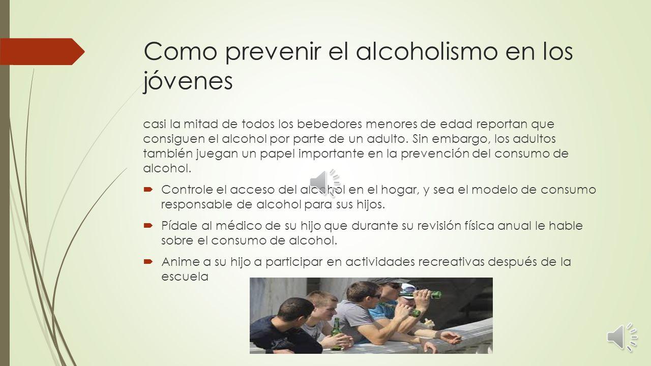 Influencia del alcohol en los adolescentes menores