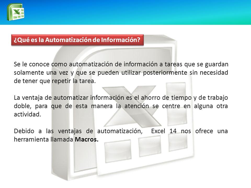 ¿Qué es la Automatización de Información