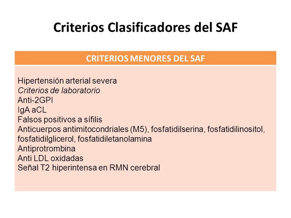 Criterios Clasificadores del SAF