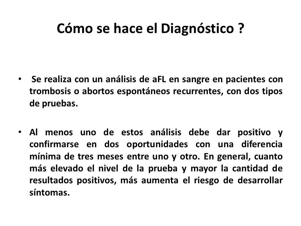 Cómo se hace el Diagnóstico