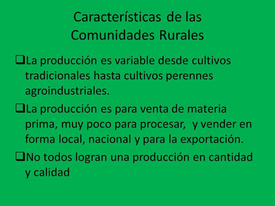 Características de las Comunidades Rurales