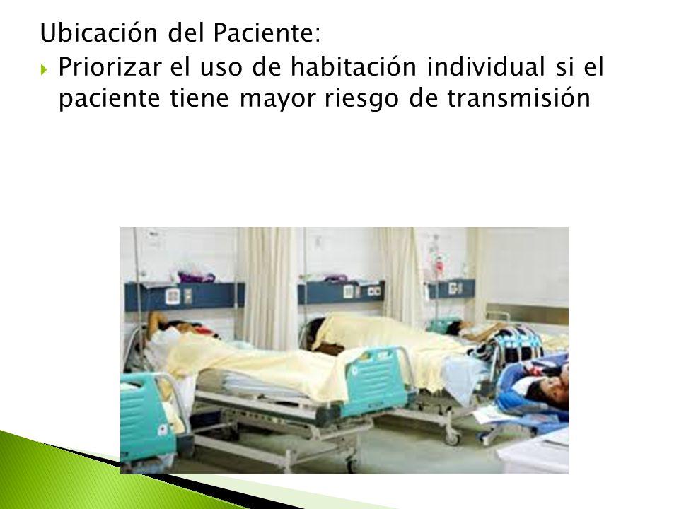 Ubicación del Paciente: