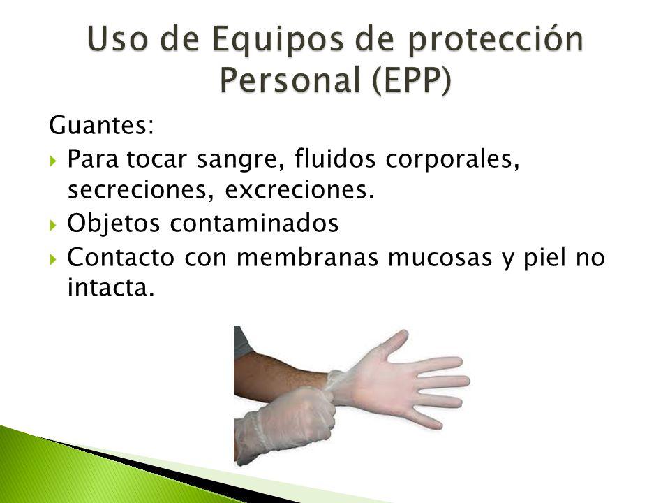 Uso de Equipos de protección Personal (EPP)
