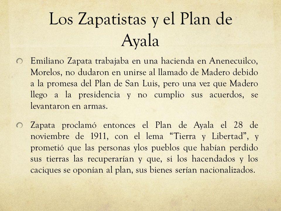 Los Zapatistas y el Plan de Ayala