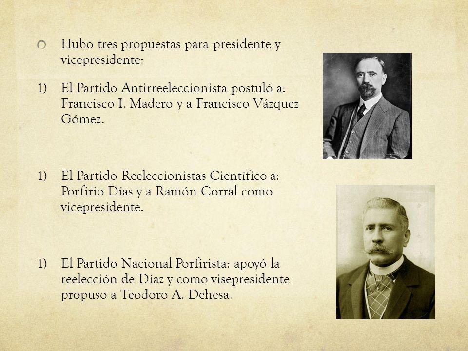 Hubo tres propuestas para presidente y vicepresidente: