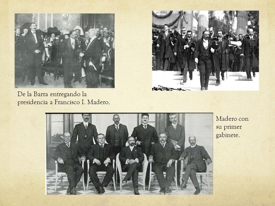 De la Barra entregando la presidencia a Francisco I. Madero.