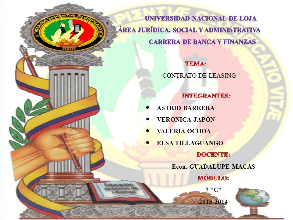 CARRERA DE BANCA Y FINANZAS