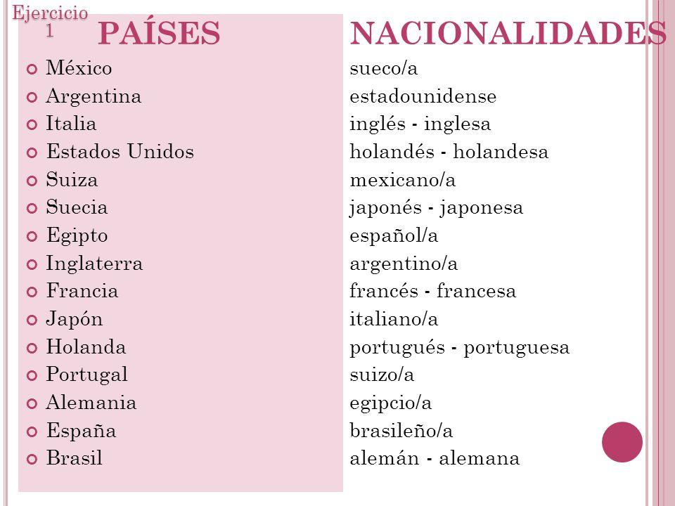 Mundo Intercultural Países Y Nacionalidades En Español: ESPAÑOL I SESIÓN Ppt Descargar