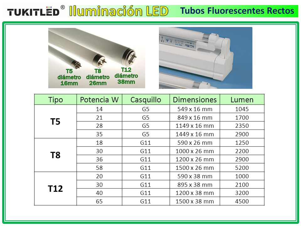 Introducci n a la iluminacion led ppt video online - Lamparas tubos fluorescentes ...