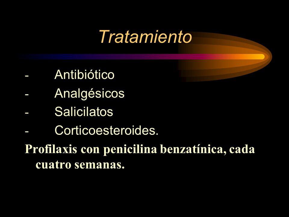Tratamiento - Antibiótico - Analgésicos - Salicilatos