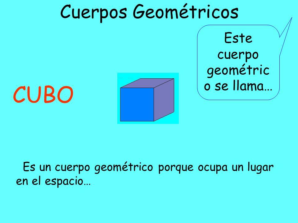 Este cuerpo geométrico se llama…