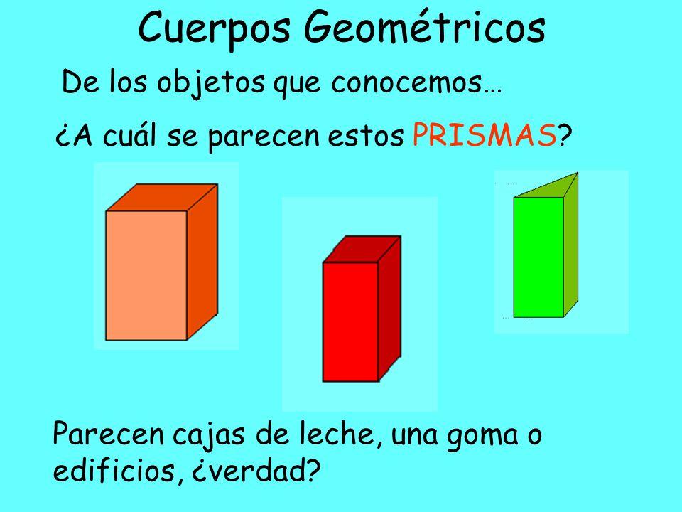 Cuerpos Geométricos De los objetos que conocemos…