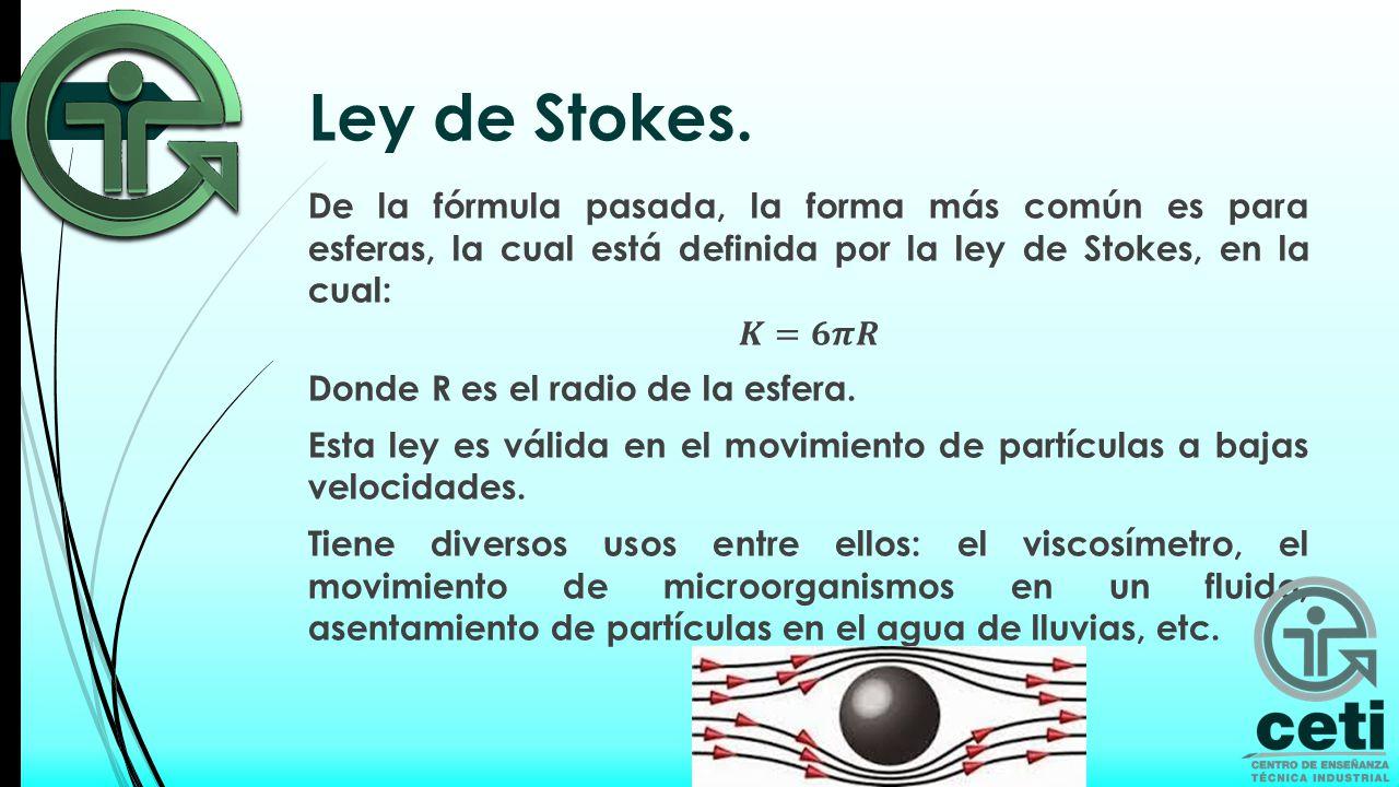 Ley de Stokes.