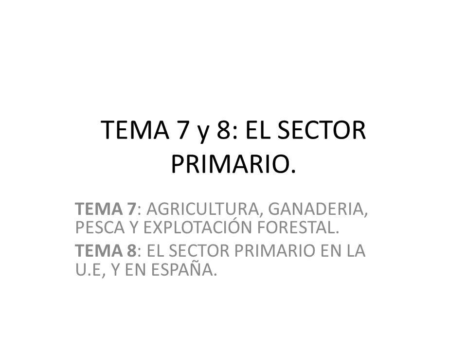TEMA 7 y 8: EL SECTOR PRIMARIO.