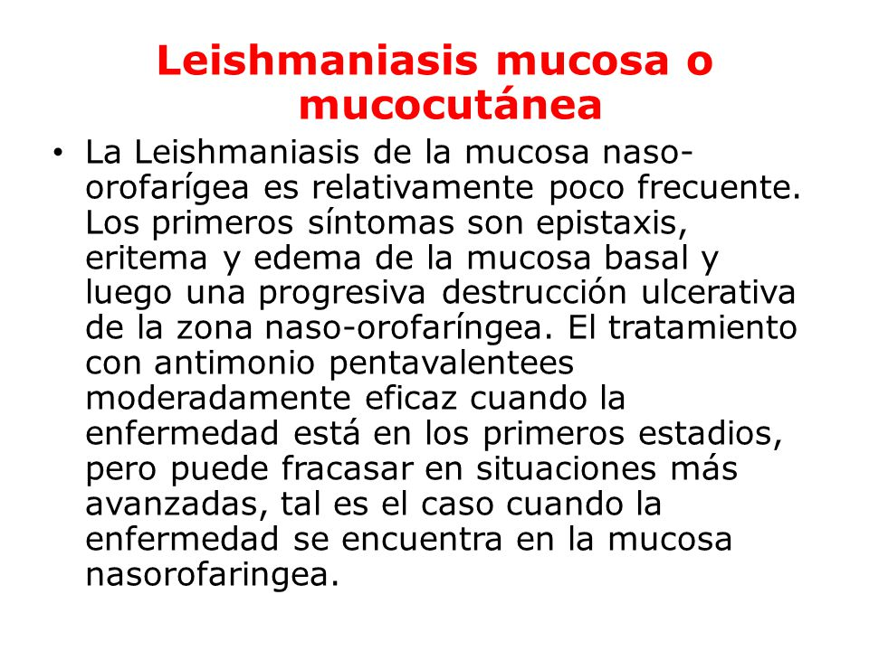 Leishmaniasis mucosa o mucocutánea