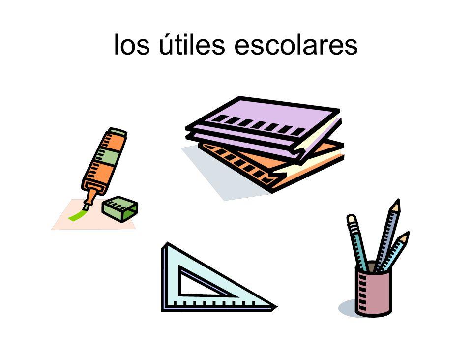 los útiles escolares
