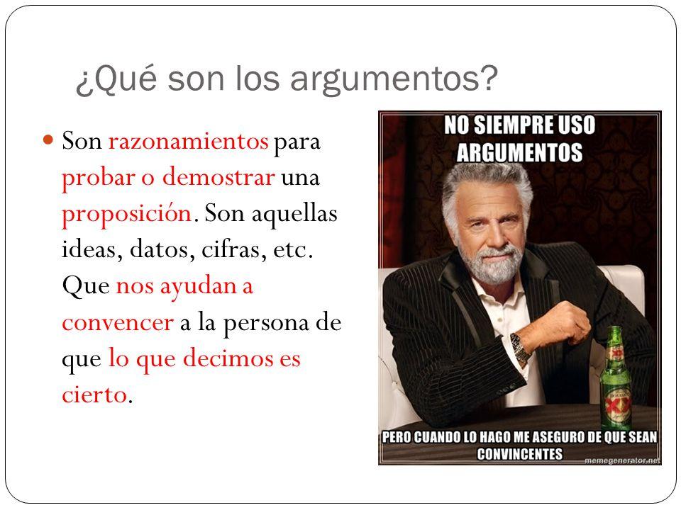 ¿Qué son los argumentos