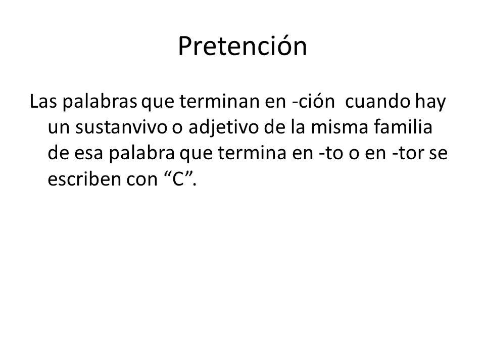 Pretención