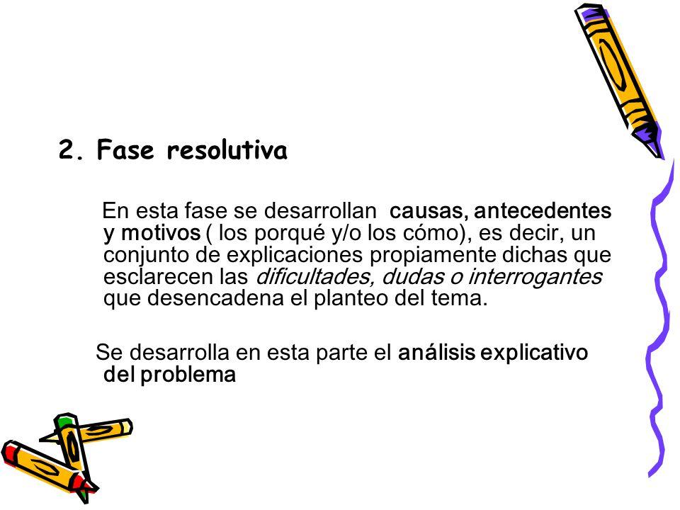 2. Fase resolutiva