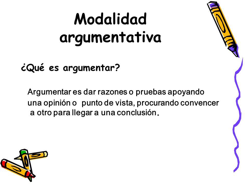 Modalidad argumentativa