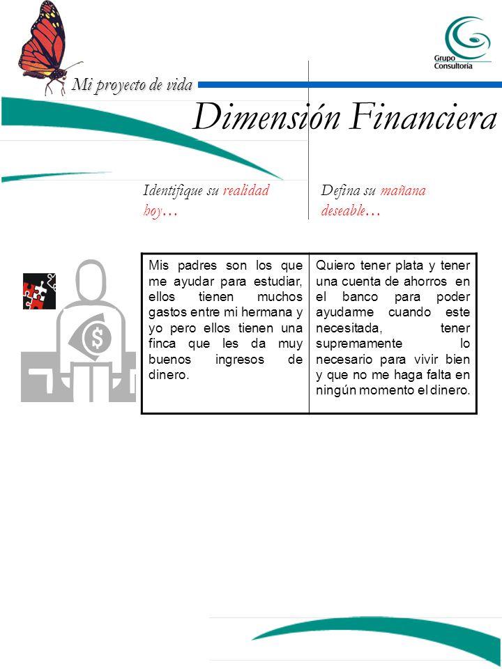 Dimensión Financiera Identifique su realidad hoy…