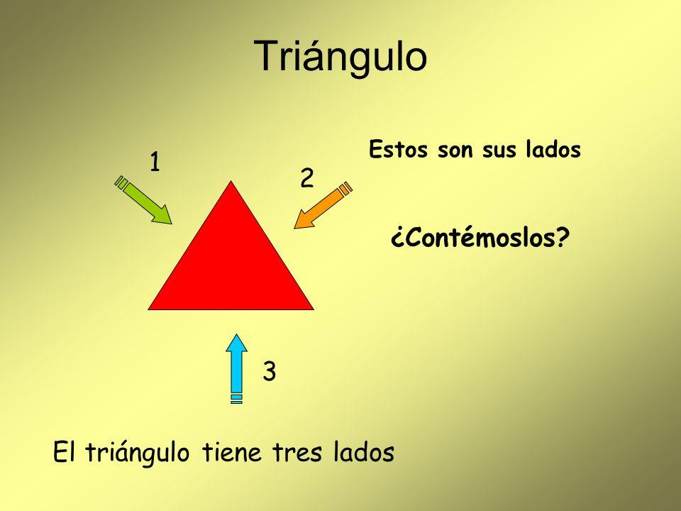 Triángulo 1 2 ¿Contémoslos 3 El triángulo tiene tres lados