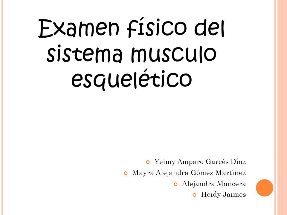 Examen físico del sistema musculo esquelético - ppt video online ...