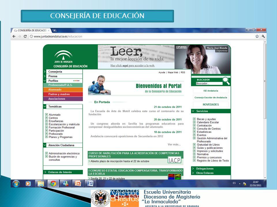 M victoria de la torre tavira ppt descargar for Consejeria de educacion junta de andalucia