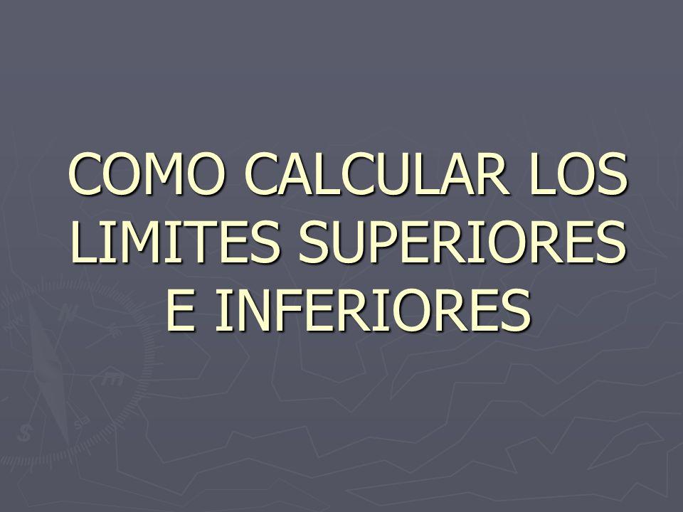 COMO CALCULAR LOS LIMITES SUPERIORES E INFERIORES