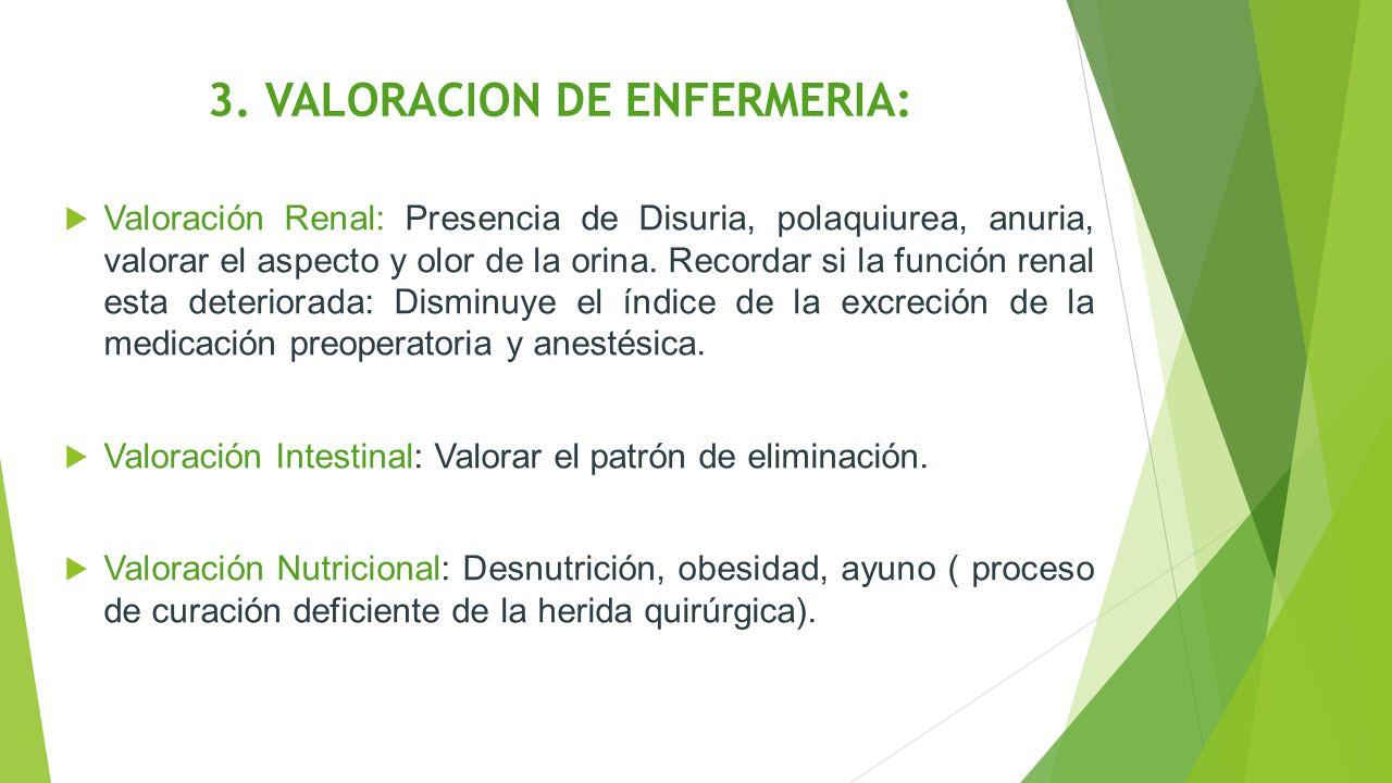 3. VALORACION DE ENFERMERIA: