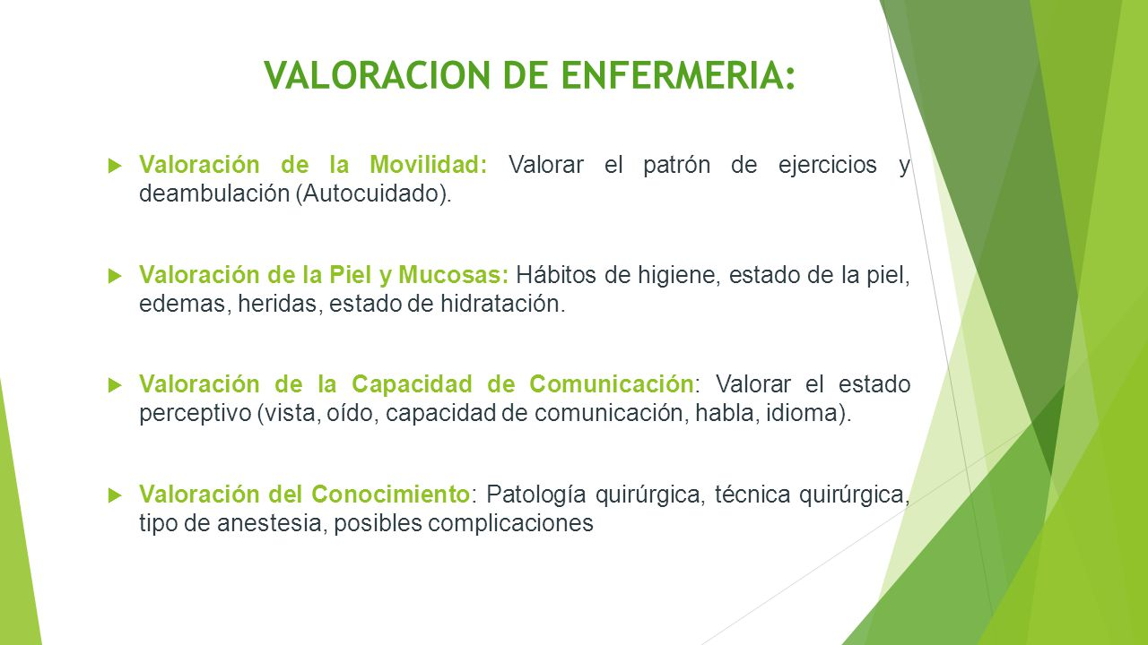 VALORACION DE ENFERMERIA: