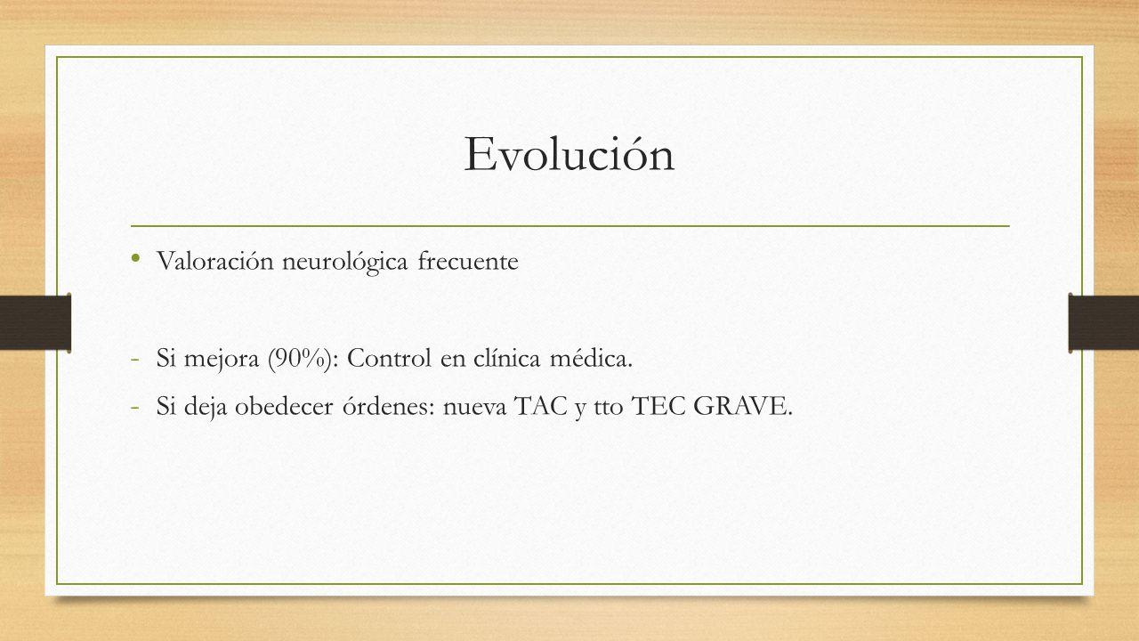 Evolución Valoración neurológica frecuente