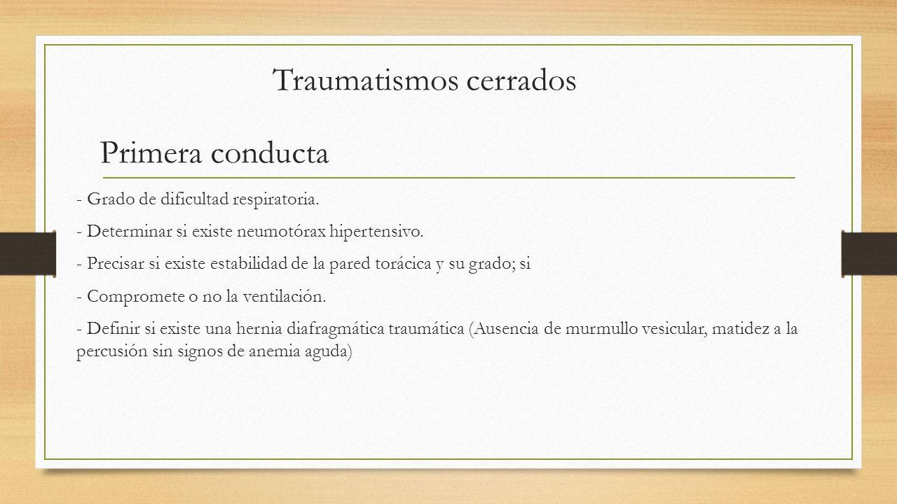 Traumatismos cerrados