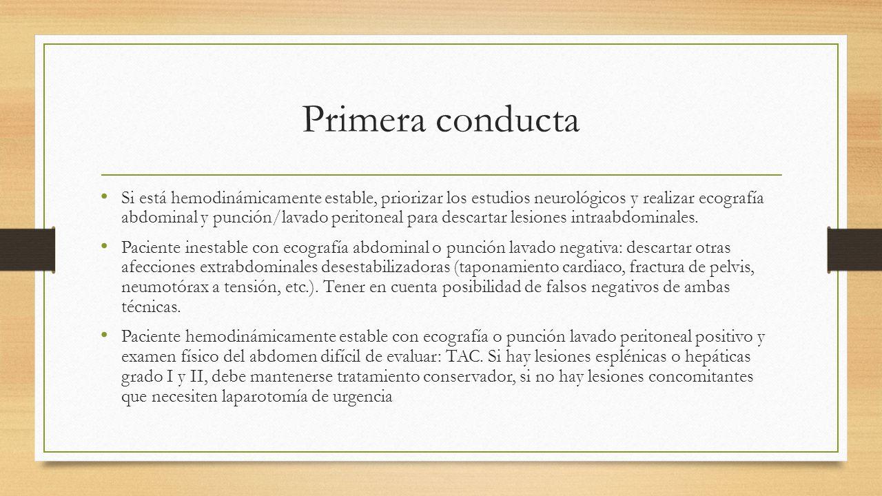 Primera conducta
