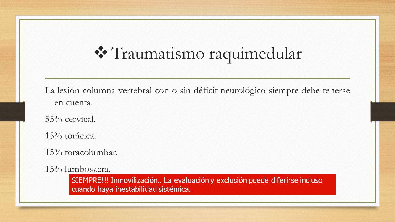 Traumatismo raquimedular